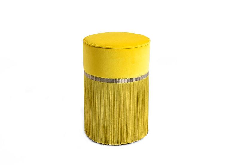 PLAIN YELLOW POUF / OTTOMAN diameter: 30 cm