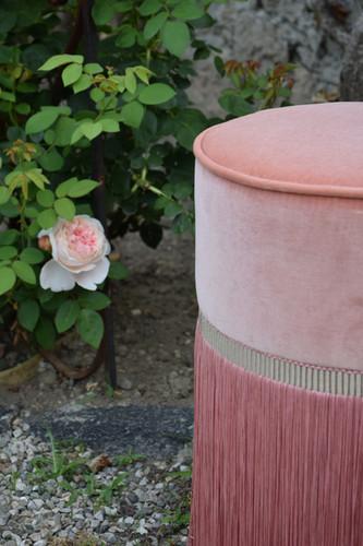 Plain diam 30 cm pink details context.jp