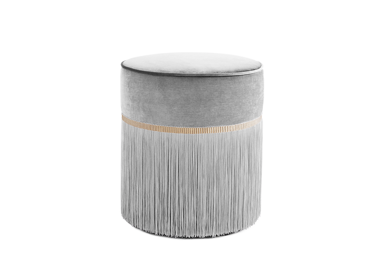 PLAIN GREY POUF diameter: 40 cm
