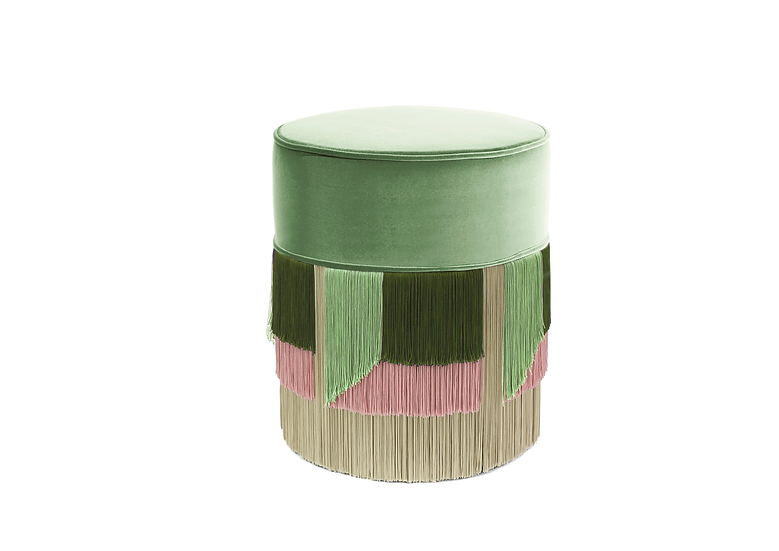FLO' GREEN POUF diameter: 40 cm