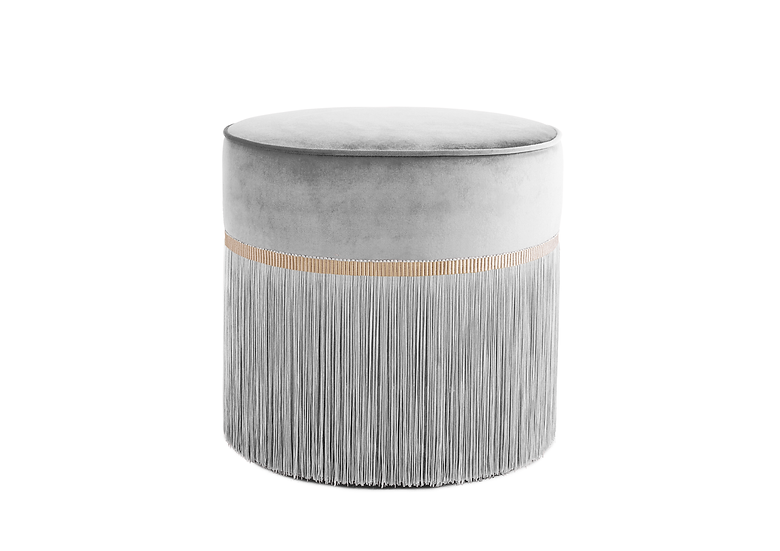 PLAIN GREY POUF diameter: 50cm