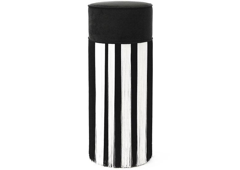 WHITE LINE BLACK BAR STOOL diameter: 30 cm