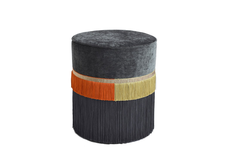 PLAIN LINE GREY POUF diameter: 40 cm