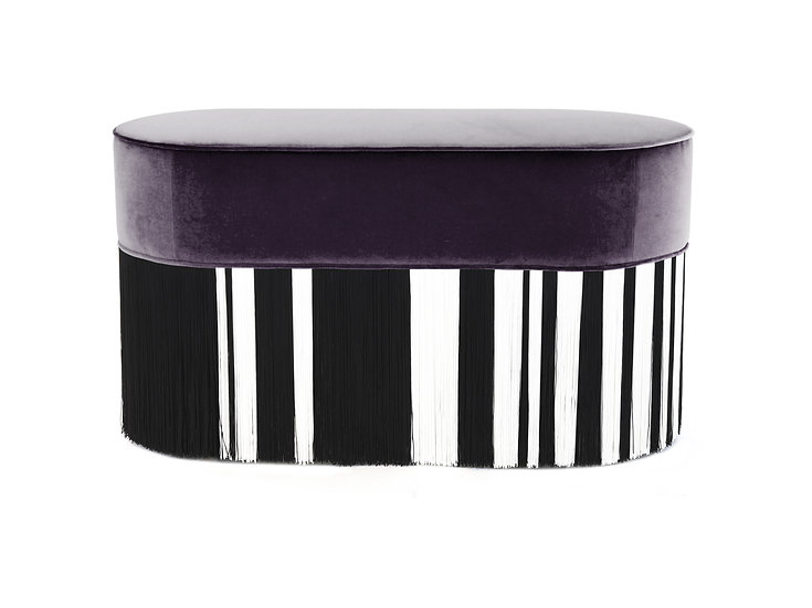 WHITE LINE PURPLE OVAL BENCH length: 85 cm