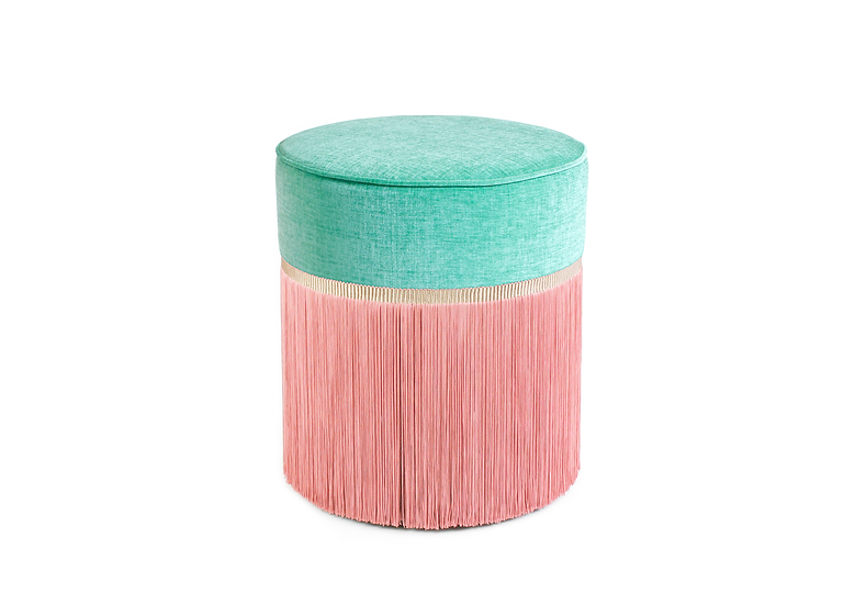 BI COLOUR MINT POUF diameter: 40 cm
