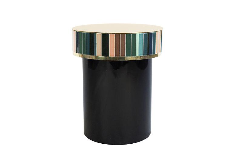 GREEN CERAMIC TILES HIGH TABLE diameter: 42.5 cm