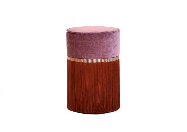 BI COLOUR ROSE POUF/ OTTOMAN  diameter: 30 cm