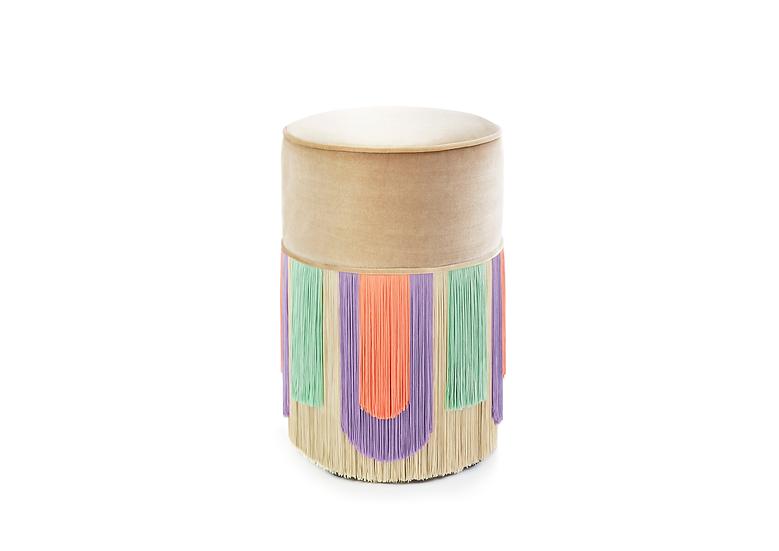 DECO' BEIGE  POUF/ OTTOMAN diameter: 30 cm