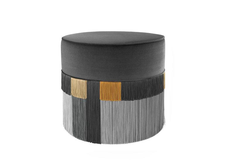 WIEN DARK GREY POUF diameter: 50 cm