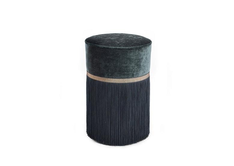 PLAIN DARK GREY POUF / OTTOMAN  diameter: 30 cm