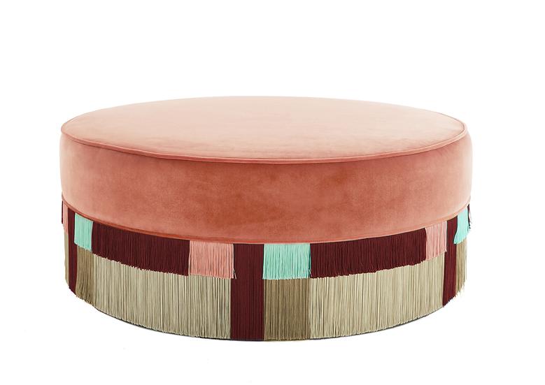 WIEN PINK LARGE ROUND POUF diameter: 95 cm