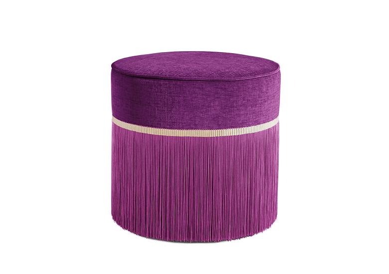 PLAIN PLUM POUF diameter: 50cm