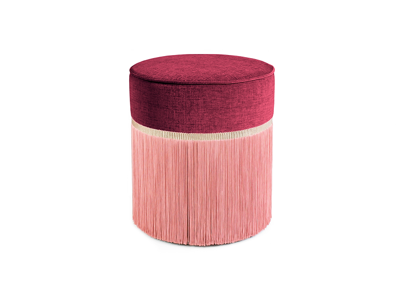 BI COLOUR BORDEAUX POUF diameter: 40 cm