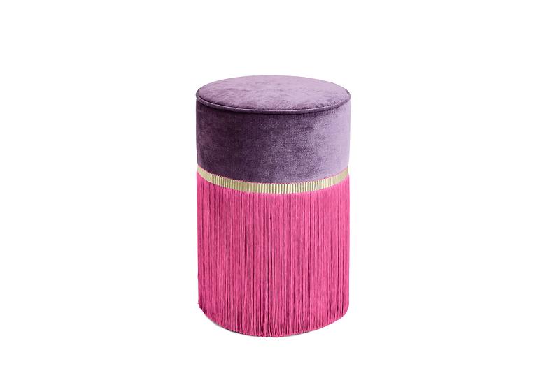BI COLOUR PURPLE POUF/ OTTOMAN  diameter: 30 cm