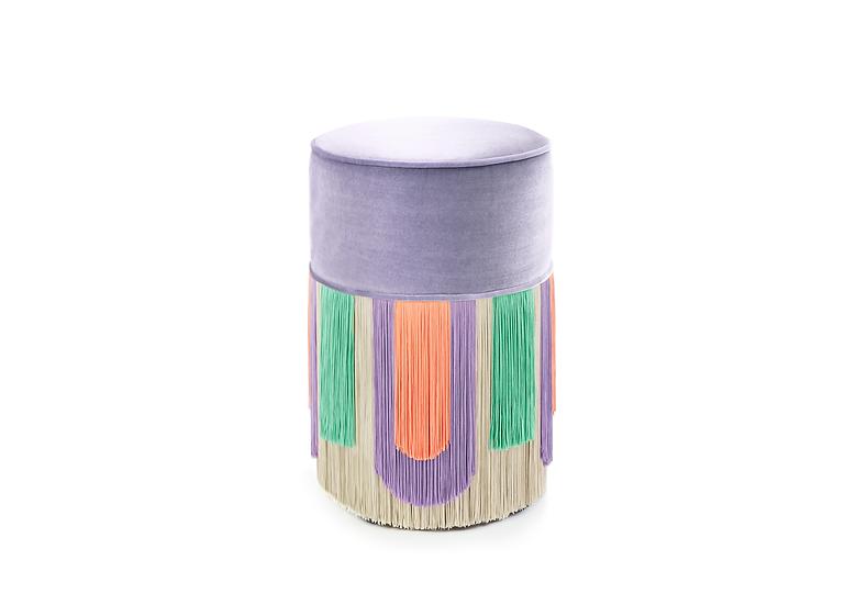 DECO' LILAC  POUF/ OTTOMAN diameter: 30 cm