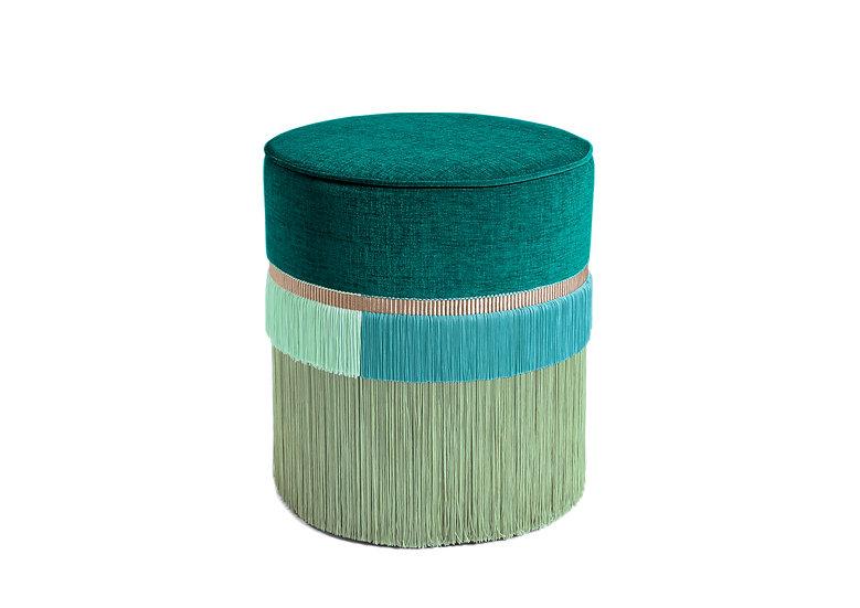 PLAIN LINE GREEN POUF diameter: 40 cm