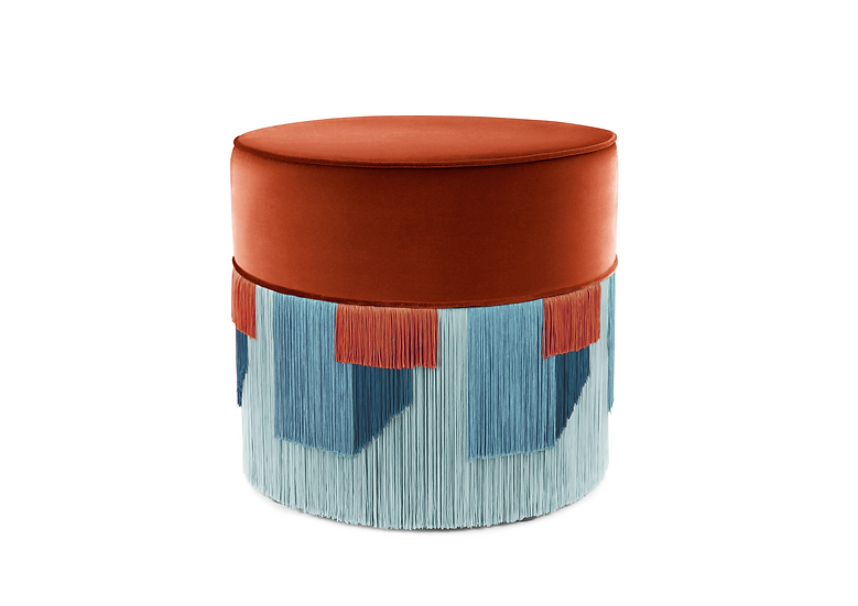 GEO RED POUF/ OTTOMAN diameter: 50cm
