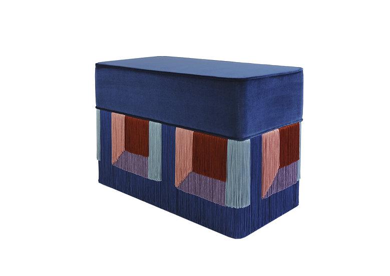 FLO' BLUE RECTANGULAR BENCH length: 70 cm