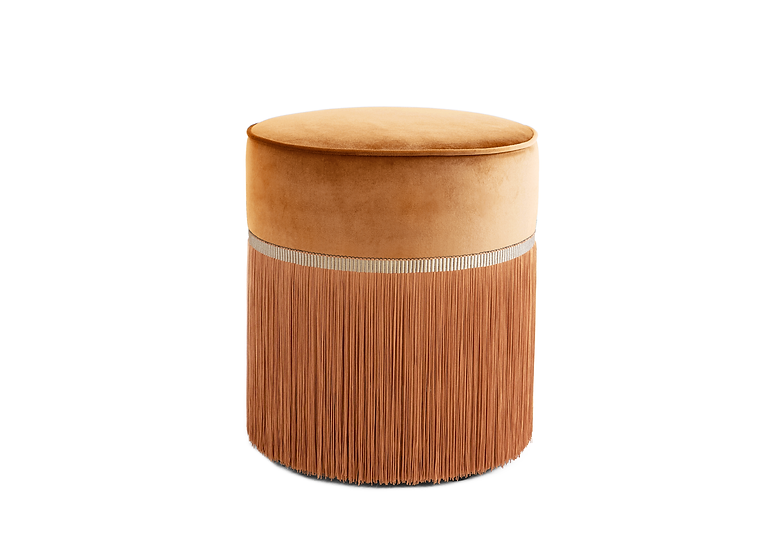 PLAIN BEIGE POUF diameter: 40 cm