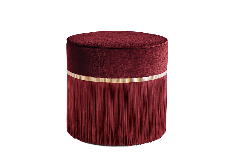 PLAIN BORDEAUX POUF diameter: 50cm