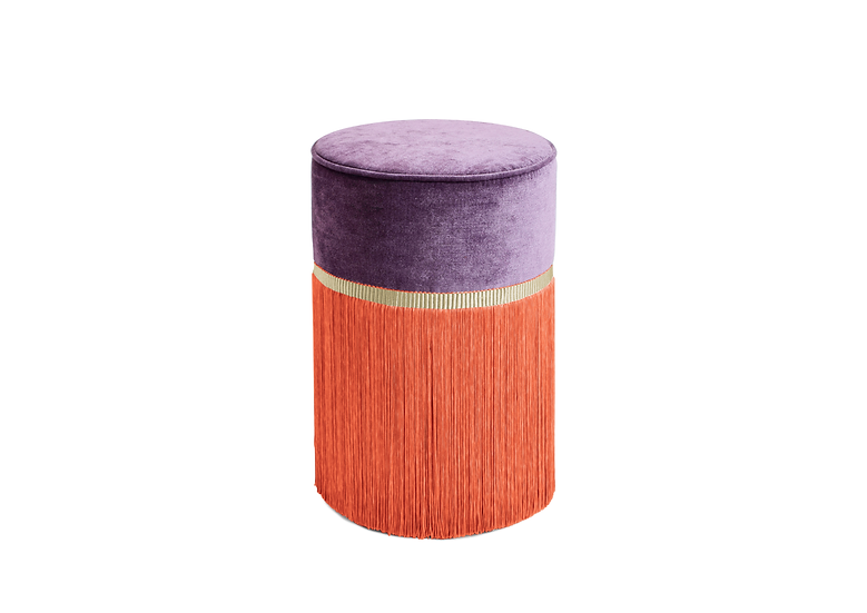BI COLOUR PURPLE POUF/ OTTOMAN  diameter: 30 cm