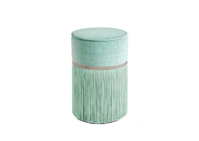 PLAIN MINT POUF/ OTTOMAN diameter: 30 cm
