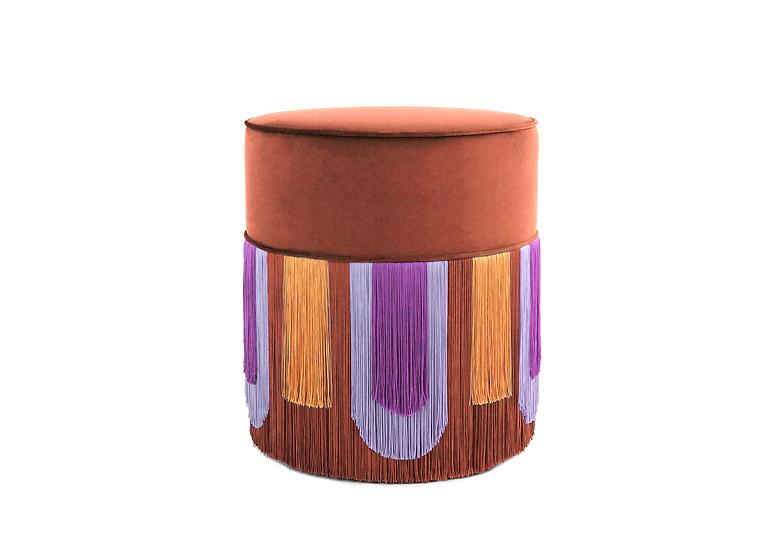 DECO' COGNAC POUF diameter: 40 cm