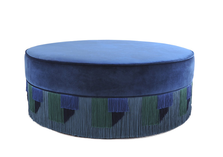 GEO BLUE LARGE ROUND POUF diameter: 95 cm