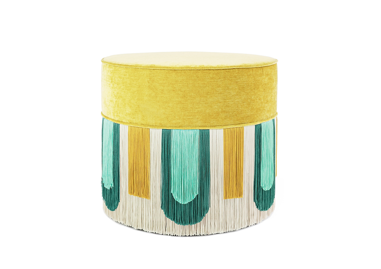 DECO' YELLOW POUF diameter: 50cm