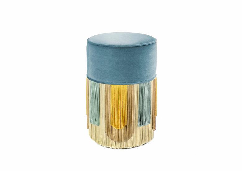 DECO LIGHT BLUE POUF/ OTTOMAN diameter: 30 cm