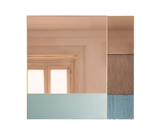 SQUARE FRINGE MIRROR