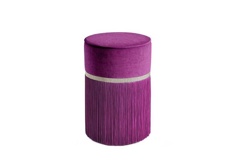 PLAIN PLUM  POUF/ OTTOMAN diameter: 30 cm