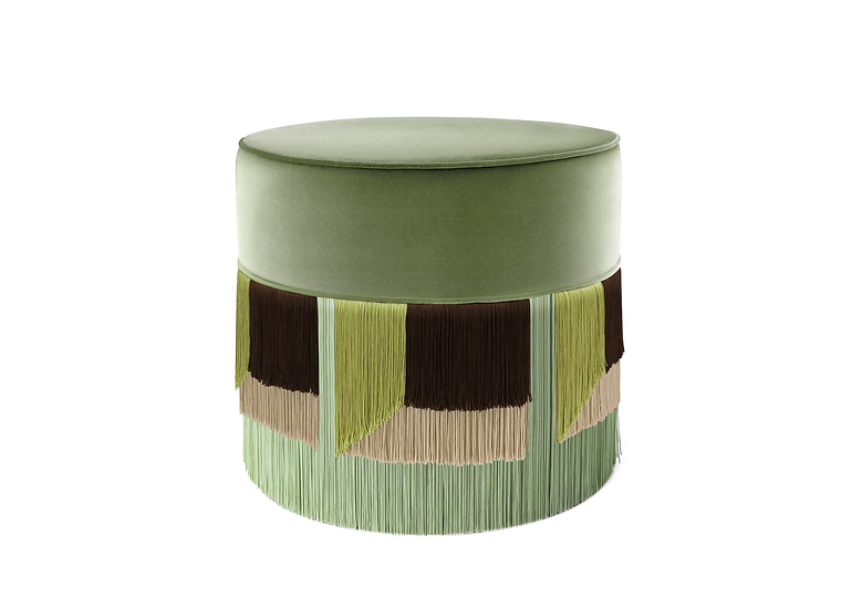 FLO' LIGHT GREEN POUF diameter: 50 cm