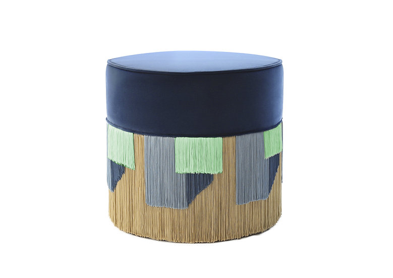 GEO BLUE POUF diameter: 50cm