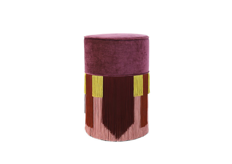 GEO TIE PLUM POUF/ OTTOMAN diameter: 30 cm