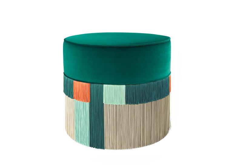 WIEN DARK GREEN POUF diameter: 50 cm