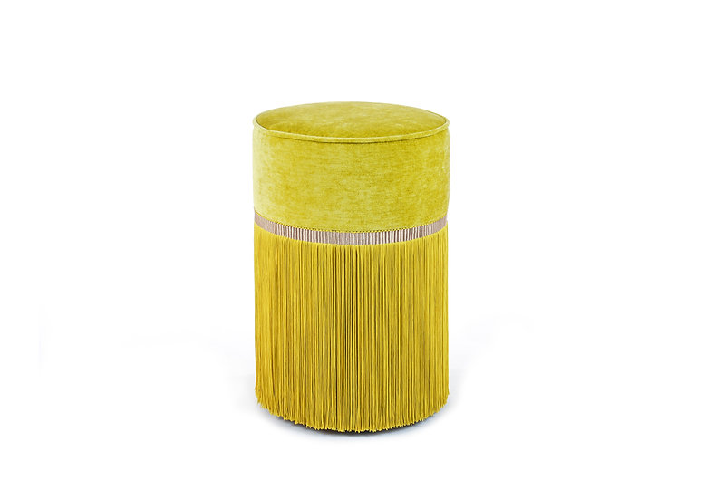PLAIN YELLOW POUF/ OTTOMAN diameter: 30 cm