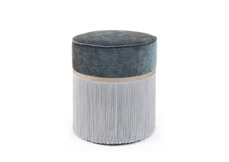 BI COLOUR DARK GREY POUF diameter: 40 cm