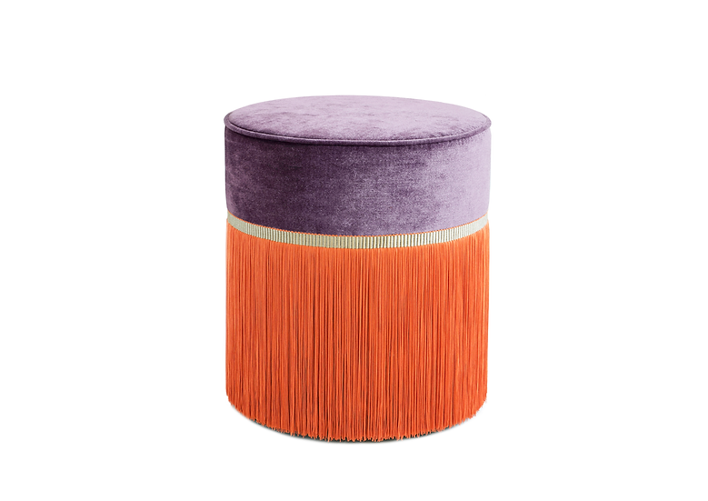 BI COLOUR PURPLE POUF diameter: 40 cm