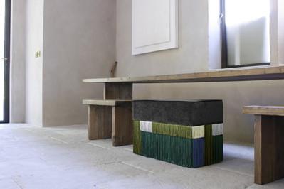 Wein Green rectangular bench 70X35 cm