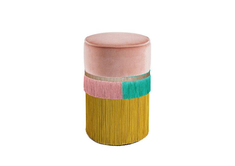 PLAIN LINE PINK POUF/ OTTOMAN diameter: 30 cm