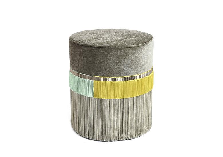 PLAIN LINE BEIGE POUF diameter: 40 cm