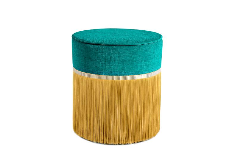 BI COLOUR GREEN POUF diameter: 40 cm
