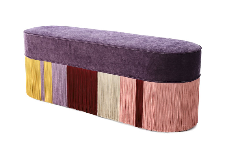 PURPLE LONG OVAL BENCH length: 130 cm