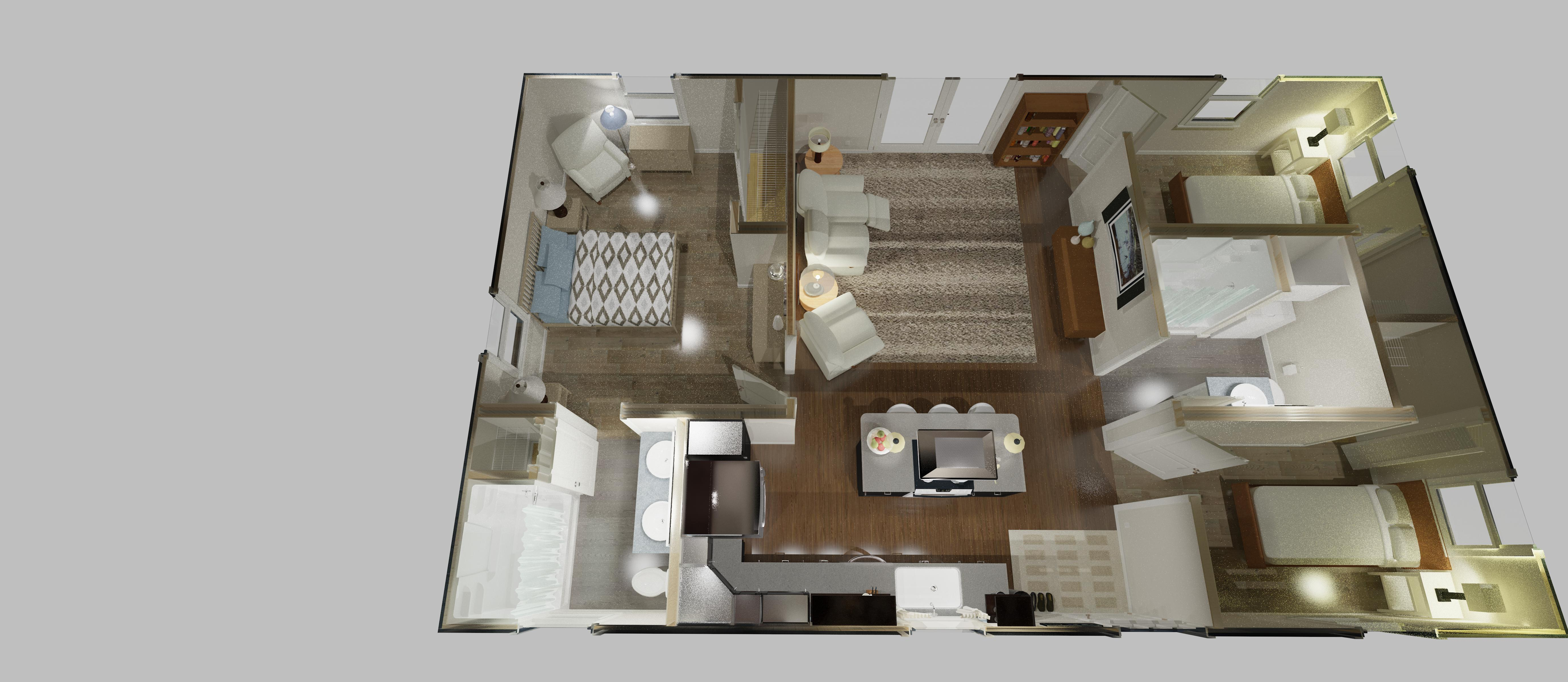 960 sq ft home