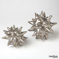 Small Matte Silver Urchin