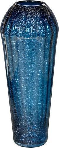 Tapered Blue Glass Vase