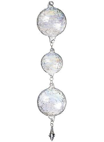 "Glass Ball Bubble Silver 5"""