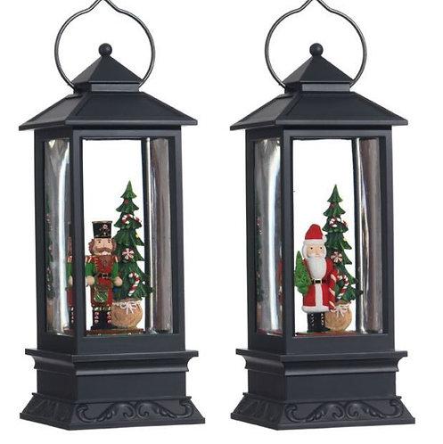 "11"" Santa OR Nutcracker Lantern"