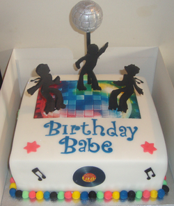 Disco Themed Cake